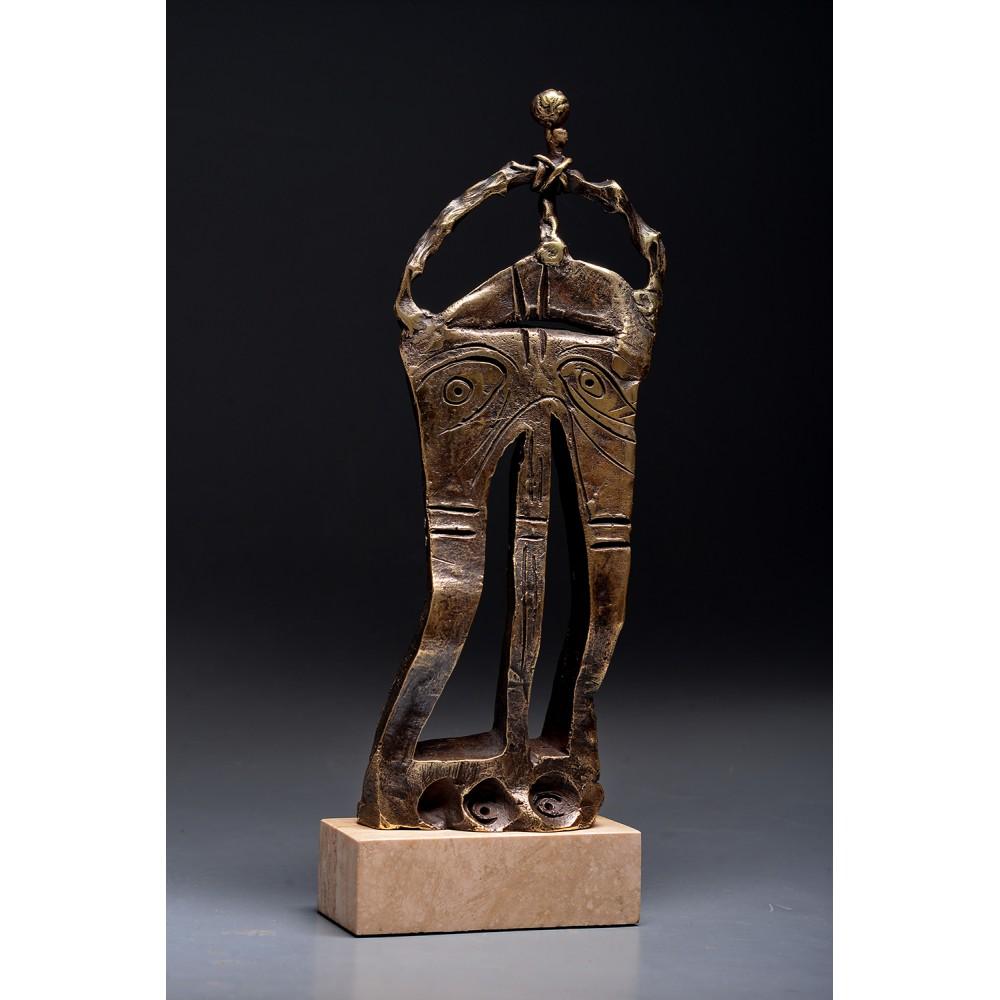Porțile Cerului II - sculptură în bronz, artist Liviu Bumbu