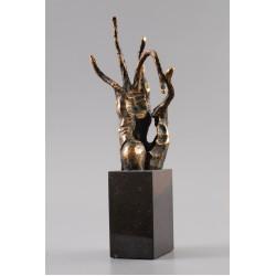 Binecuvântare I - sculptură în bronz, artist Liviu Bumbu