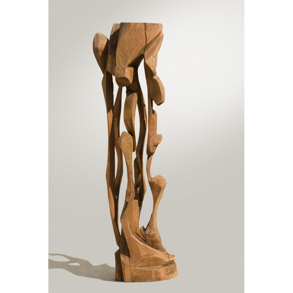 Coloana lemn I - sculptură în lemn, artist Liviu Bumbu