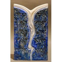 Tablele Legii I - ceramică în şamotă, artist Petru Leahu