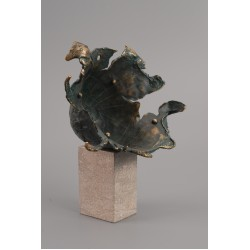 Explozie solară III - sculptură în bronz, artist Liviu Bumbu