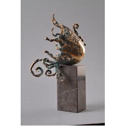 Explozie solară IV - sculptură în bronz, artist Liviu Bumbu