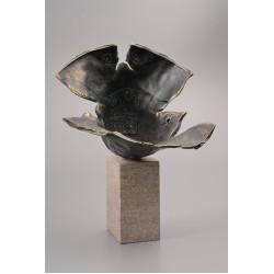 Explozie solară - sculptură în bronz, artist Liviu Bumbu