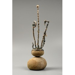 Golgota - sculptură în bronz, artist Liviu Bumbu