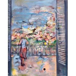 Ea - pictură în ulei pe pânză, artist Cristina Marian