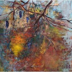 Aurul toamnei - pictură în ulei pe pânză, artist Cristina Marian