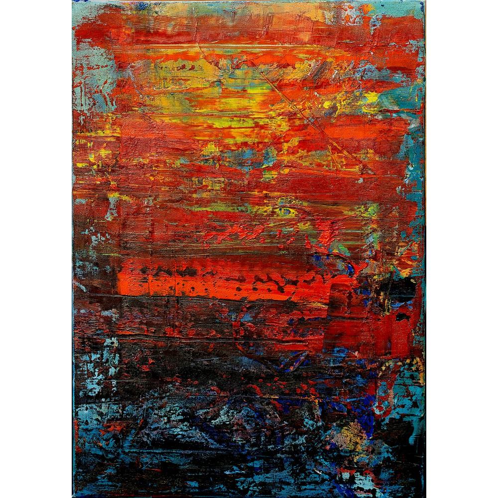 Urmă pe pânza vieții - pictură în ulei pe pânză, artist Cristina Marian