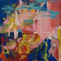 Gânduri împotriva uitării - pictură în ulei pe pânză, artist Cristina Marian