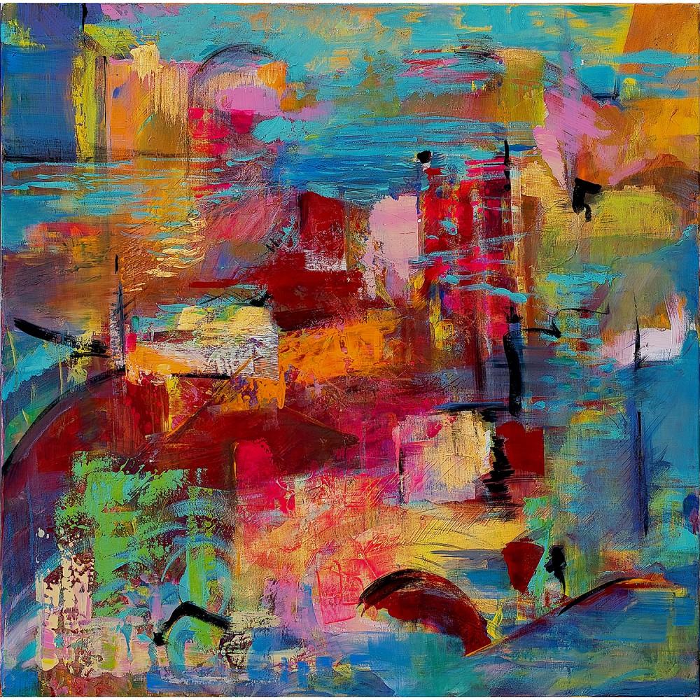 Port abandonat - pictură în ulei pe pânză, artist Cristina Marian