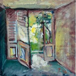 Escape - pictură în ulei pe pânză, artist Cristina Marian