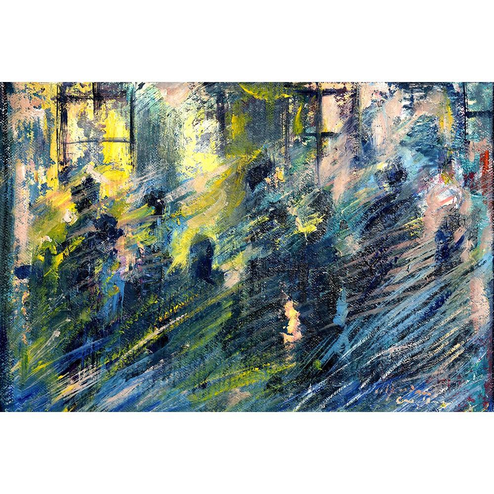 Indefinit - pictură în ulei pe carton, artist Cristina Marian