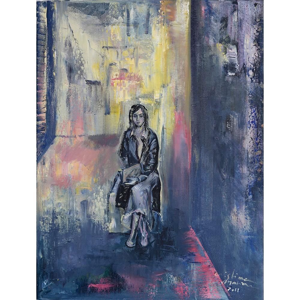 Studioscript Sadness - pictură în ulei pe pânză, artist Cristina Marian