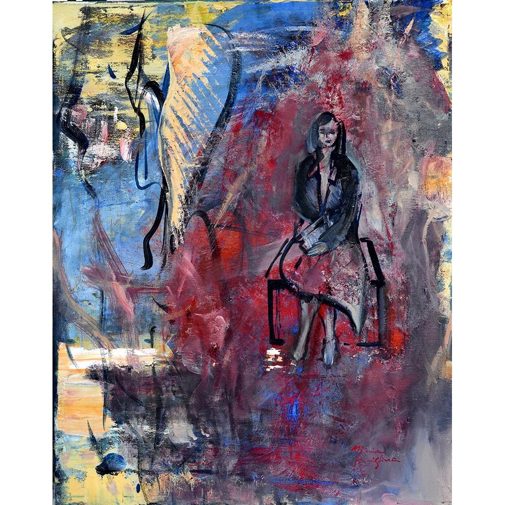 Studioscript Thoughts - pictură în ulei pe pânză, artist Cristina Marian