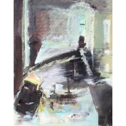 Enigmele zilei - pictură în ulei pe pânză, artist Cristina Marian