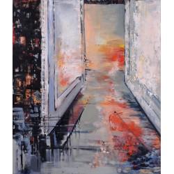 Poarta zilei de mâine - pictură în ulei pe pânză, artist Cristina Marian