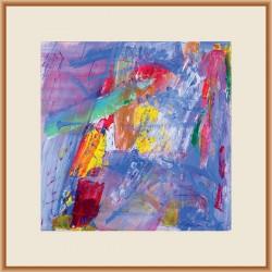Interferențe XII - pictură în acrilic pe hârtie, artist Cristina Marian