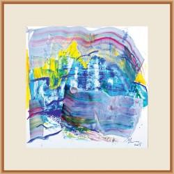 Interferențe VIII - pictură în acrilic pe hârtie, artist Cristina Marian