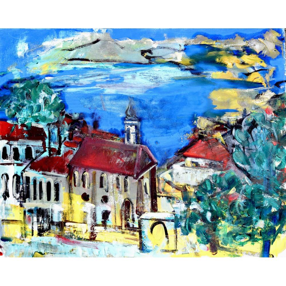 A beautiful day - pictură în ulei pe pânză, artist Cristina Marian