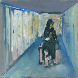 Studioscript passageway - pictură în ulei pe pânză, artist Cristina Marian