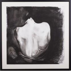 The back I - grafică în cărbune pe hârtie, artist Edmona