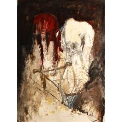 Invitatie - pictură în ulei pe hârtie, artist Iurie Cojocaru