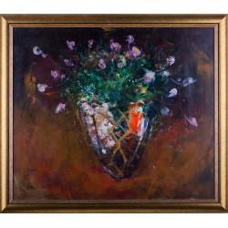 Florile Claunului - pictură în ulei pe pânză, artist Iurie Cojocaru