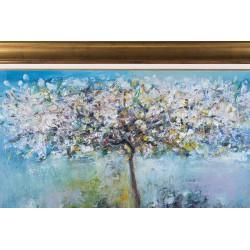 Copac în floare - pictură în ulei pe pânză, artist Iurie Cojocaru