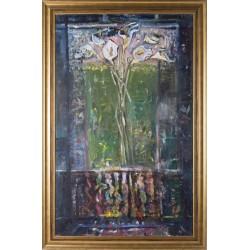 Fereastra - pictură în ulei pe pânză, artist Iurie Cojocaru