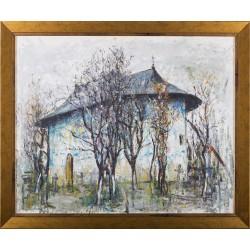 Mănăstirea Arbore - pictură în ulei pe pânză, artist Iurie Cojocaru