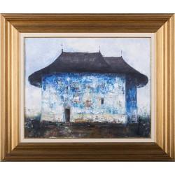 Mănăstirea Voroneț - pictură în ulei pe pânză, artist Iurie Cojocaru