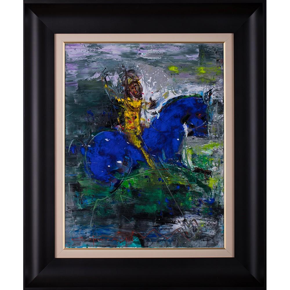 Călărețul anonim - pictură în ulei pe pânză, artist Iurie Cojocaru