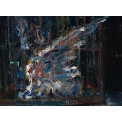 Aripă frântă - pictură în ulei pe pânză, artist Iurie Cojocaru