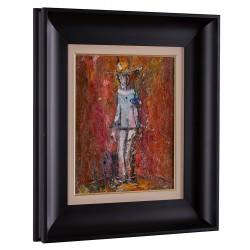 Gânditorul - pictură în ulei pe carton, artist Iurie Cojocaru