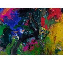 Simfonia culorilor - pictură în ulei pe carton, artist Iurie Cojocaru