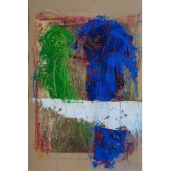 Întâlnirea - pictură în ulei pe carton, artist Iurie Cojocaru