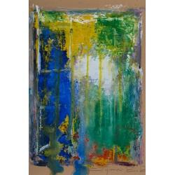 Fereastră spre mâine - pictură în ulei pe carton, artist Iurie Cojocaru