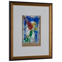 Înger în lumină - pictură în ulei pe carton, artist Iurie Cojocaru