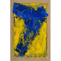Îngerul șapte - pictură în ulei pe carton, artist Iurie Cojocaru