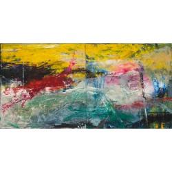 Peisaj transilvan - pictură în ulei pe pânză, artist Iurie Cojocaru