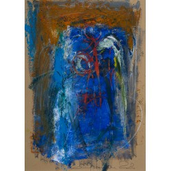 Trup înaripat I - pictură în ulei pe carton, artist Iurie Cojocaru