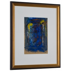 Trup înaripat II - pictură în ulei pe carton, artist Iurie Cojocaru