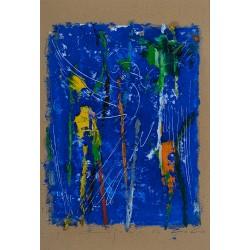 Vis cu înger - pictură în ulei pe carton, artist Iurie Cojocaru