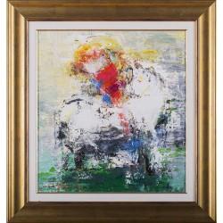 Călărețul - pictură în ulei pe pânză, artist Iurie Cojocaru