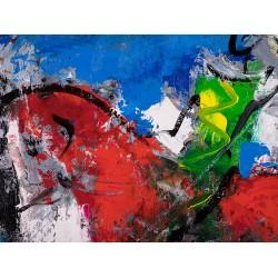 Călărețul anonim II - pictură în ulei pe pânză, artist Iurie Cojocaru