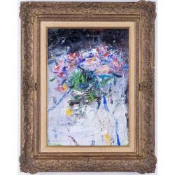 Flori în oglindă - pictură în ulei pe pânză, artist Iurie Cojocaru