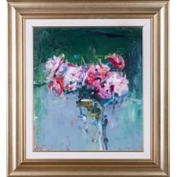 Trandafiri - pictură în ulei pe pânză, artist Iurie Cojocaru