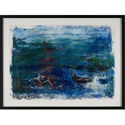 Dialog I - pictură în ulei pe carton, artist Iurie Cojocaru