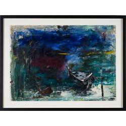 Dialog II - pictură în ulei pe carton, artist Iurie Cojocaru