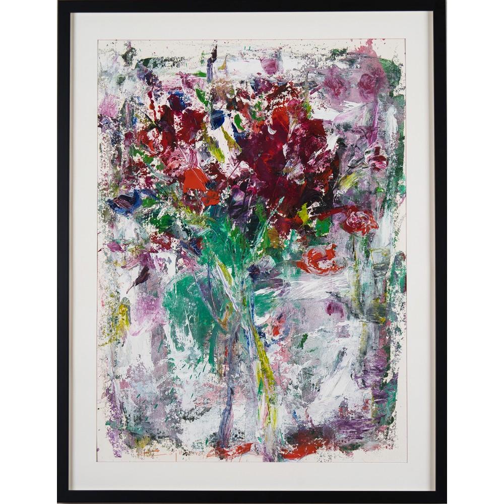 Flori timpurii - pictură în ulei pe carton, artist Iurie Cojocaru
