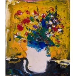 Florile mele - pictură în ulei pe carton pânzat, artist Iurie Cojocaru